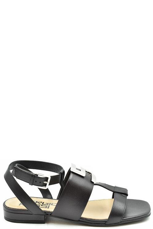 Sergio Rossi Black Leather Sandal