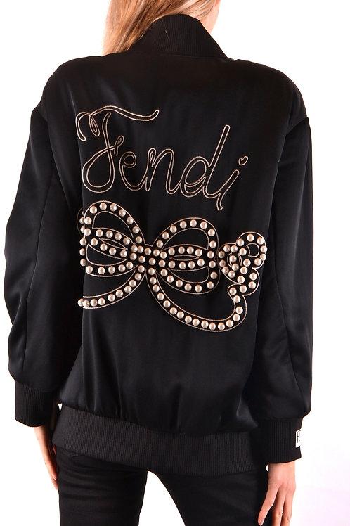 Fendi Black Silk Blouson