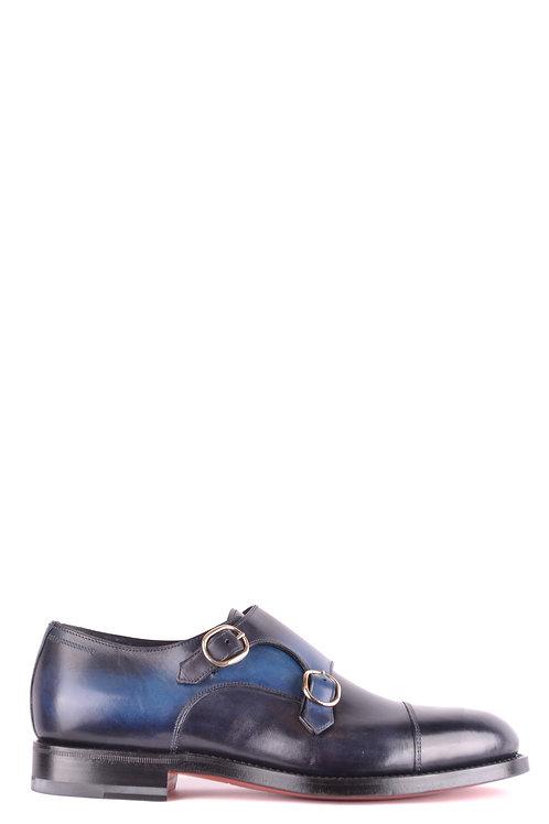 Santoni Blue Leather