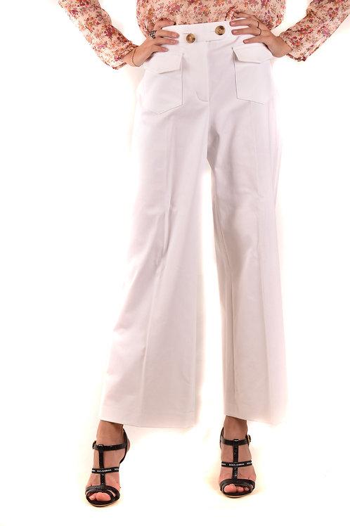 Trousers R.E.D. Valentino White Cotton