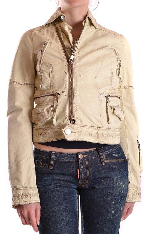 Dsquared Leather Beige Blouson