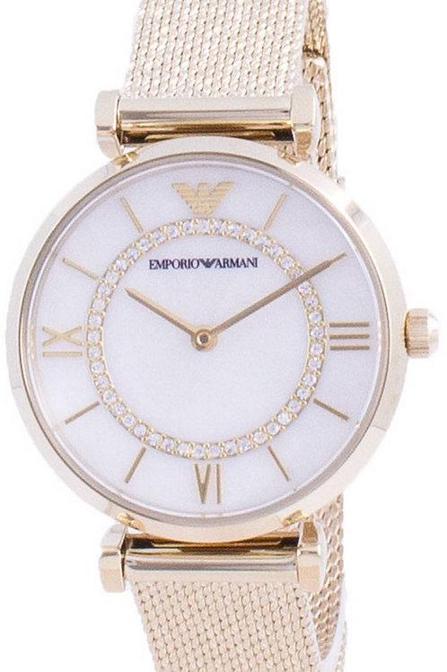 Emporio Armani Gianni T-Bar Diamond Accents Quartz AR11321 Women's Watch