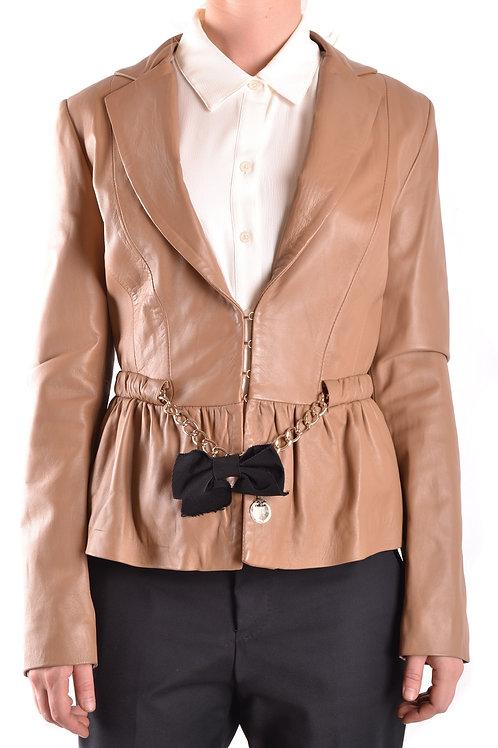 Elisabetta Franchi Beige Leather Jacket