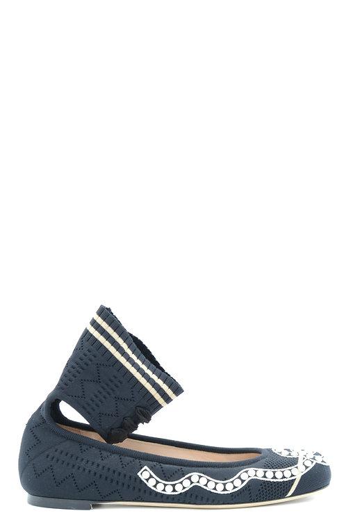 Fendi Black Leather Flat