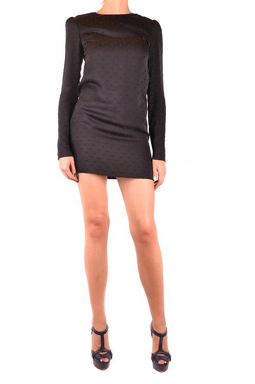 Dress Saint Laurent Black Silk Mini