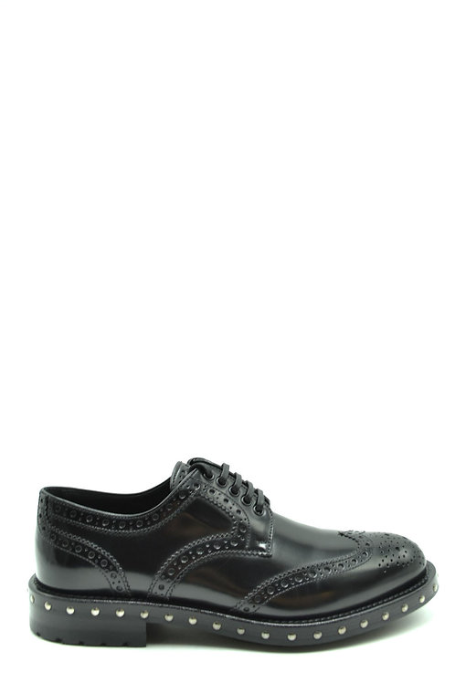 Dolce & Gabbana Black Leather Casual
