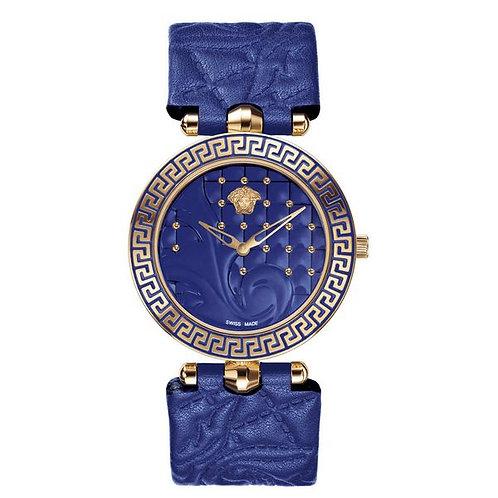 Versace Ladies'Watch Blue Leather