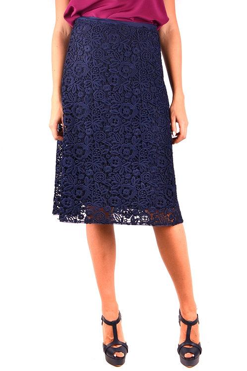 Miu Miu Blue Midi Skirt