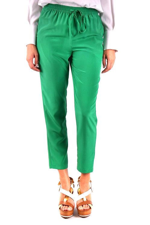 Trousers R.E.D. Valentino Green Silk