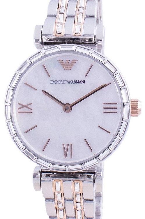 Emporio Armani Gianni T-Bar Mother Of Pearl Dial Quartz AR11290 Women's Watch