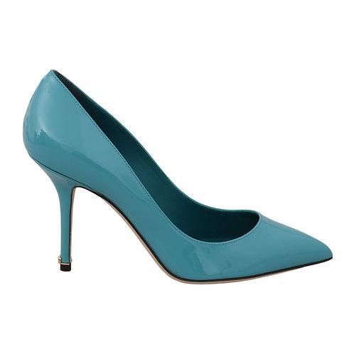 Dolce & Gabbana Women's Blue Patent Leather Pump