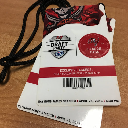 Pair of 2013 Season Pass Holder Draft Day Passes - Day 1 Official Draft Party