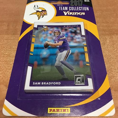 2017 Vikings Team Collection Panini Football Card Set