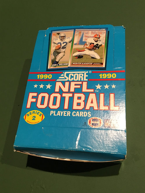 1990 Score NFL Football Cards Full Factory Box of Unopened Cards