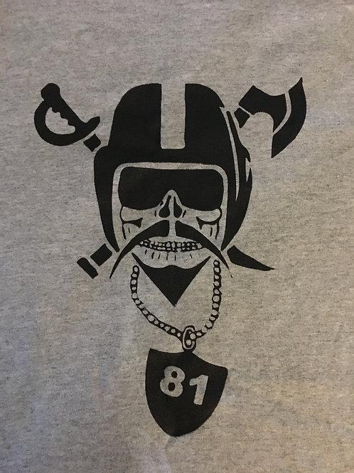 RAIDER ReACTION Grey Logo T-Shirt