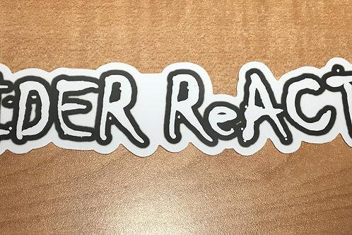 Large RAIDER ReACTION Bumper Sticker