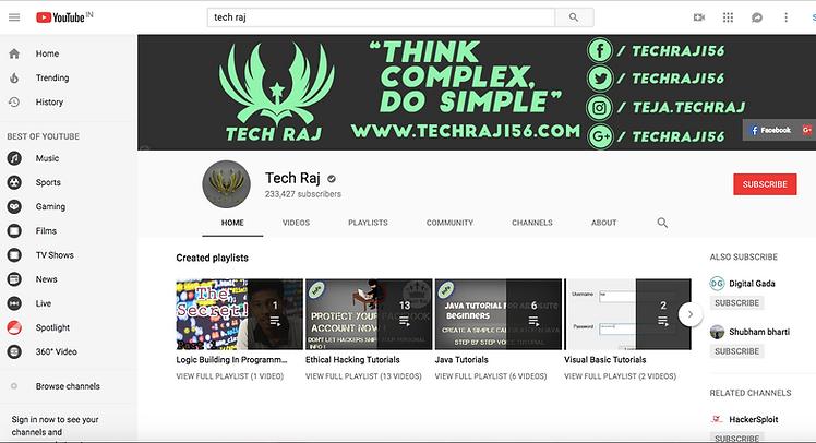 Tech Raj YouTube Channel