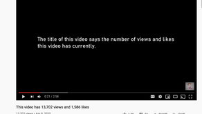 How I made my YouTube video's title show its views