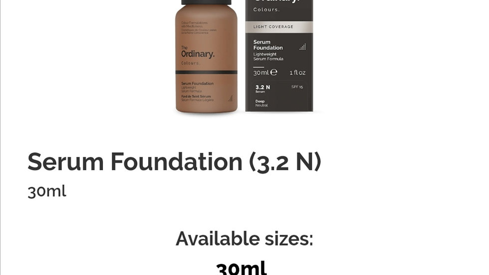The Ordinary Serum Foundation 3.2N