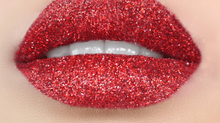 Beauty Blvd Glitter Lips RUBY-SLIPPERS