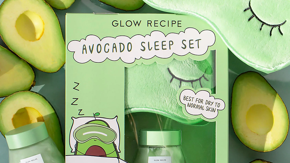 FULL SIZED Glow Recipe Avacado Melt Sleep Set
