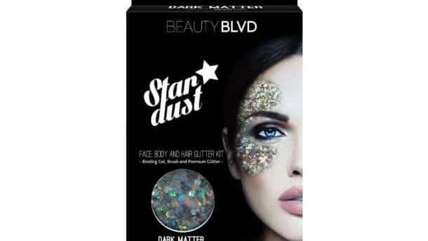 Beauty Blvd Dark-Matter Stardust – Face, Body & Hair Glitter Kit