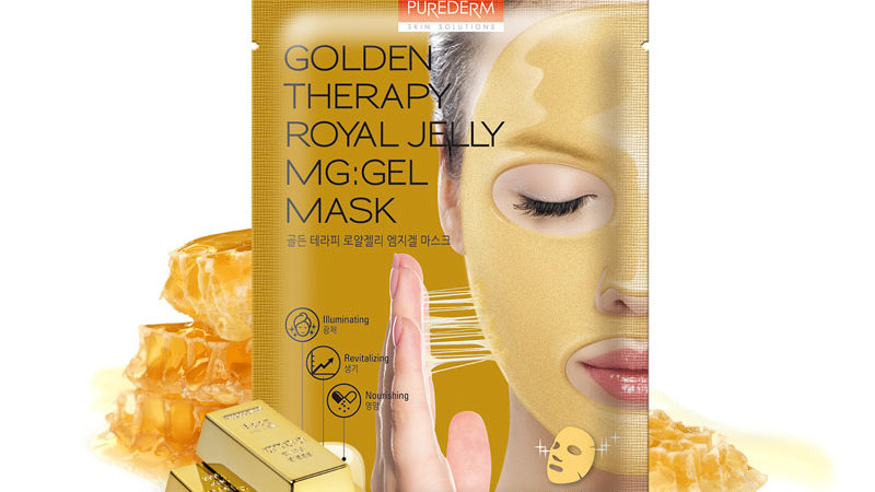 Premium Therapy Gel Mask with High Protein Royal Jelly and Gold