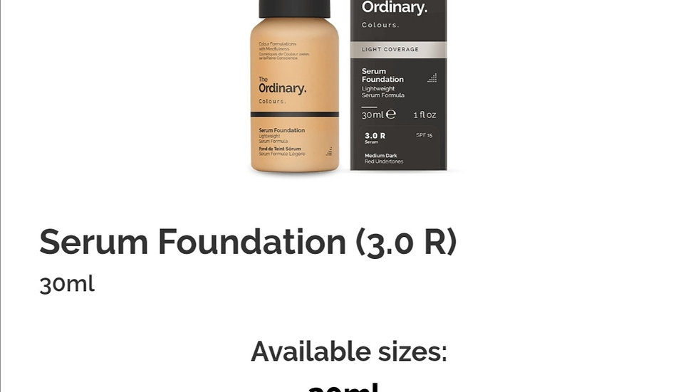 The Ordinary Serum Foundation 3.0 R
