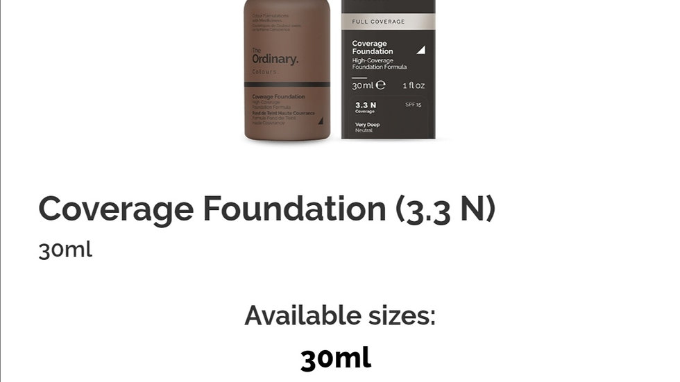 The Ordinary Coverage Foundation 3.3N