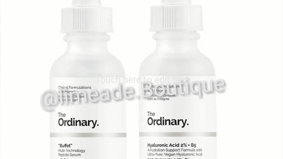The Ordinary's Hydration Duo