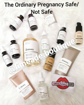 The Ordinary Products Safe & Not Safe for pregnancy, Updated 17/12/20