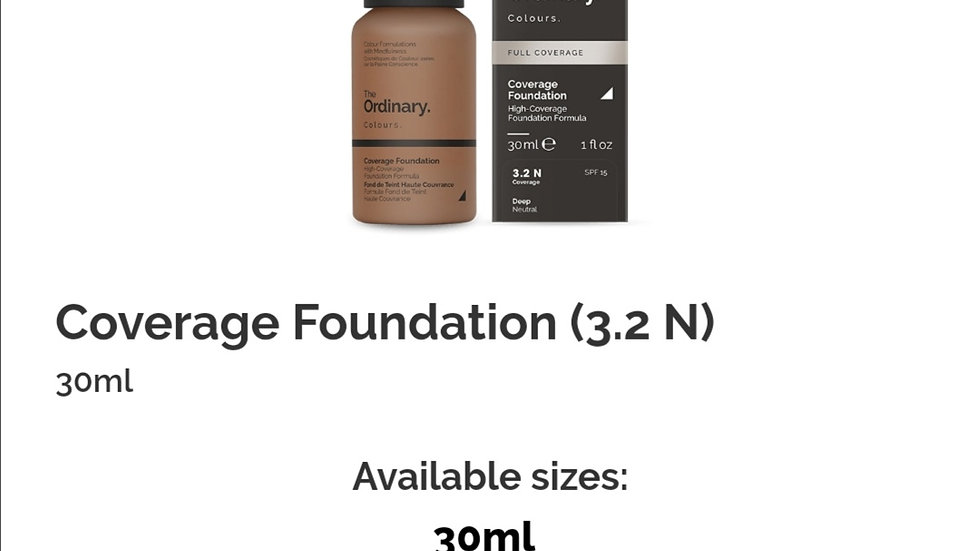 The Ordinary Coverage Foundation 3.2N