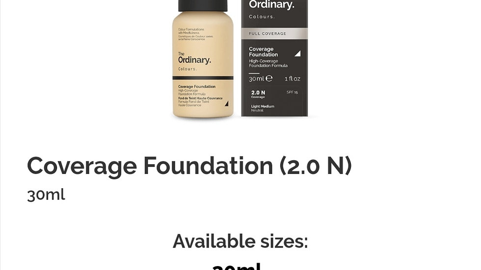 The Ordinary Coverage Foundation 2.0 N