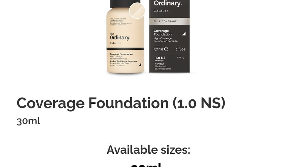 The Ordinary Coverage Foundation 1.0NS