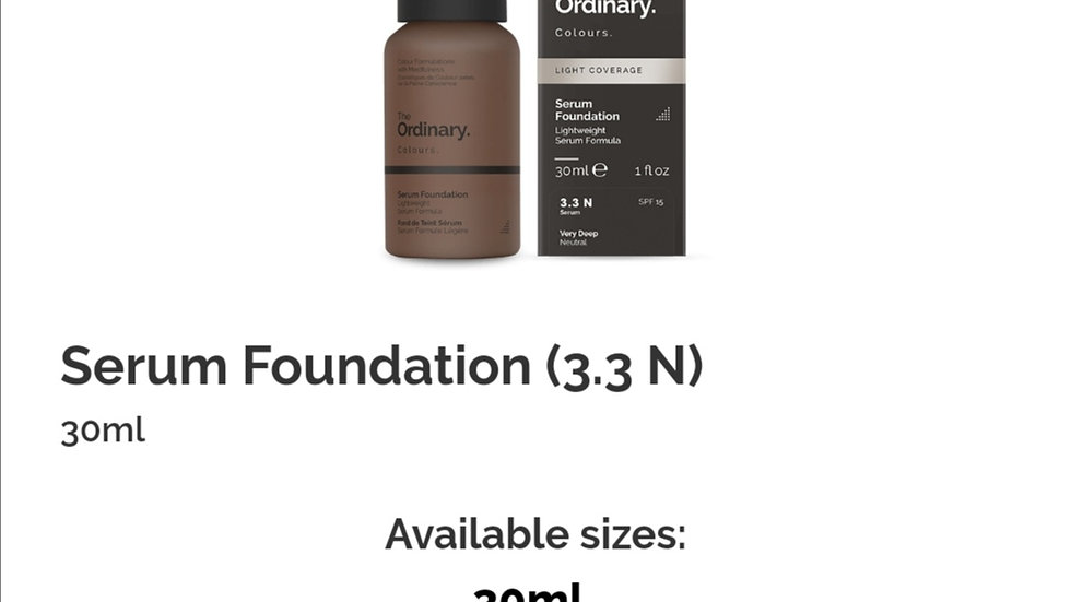 The Ordinary Serum Foundation 3.3N