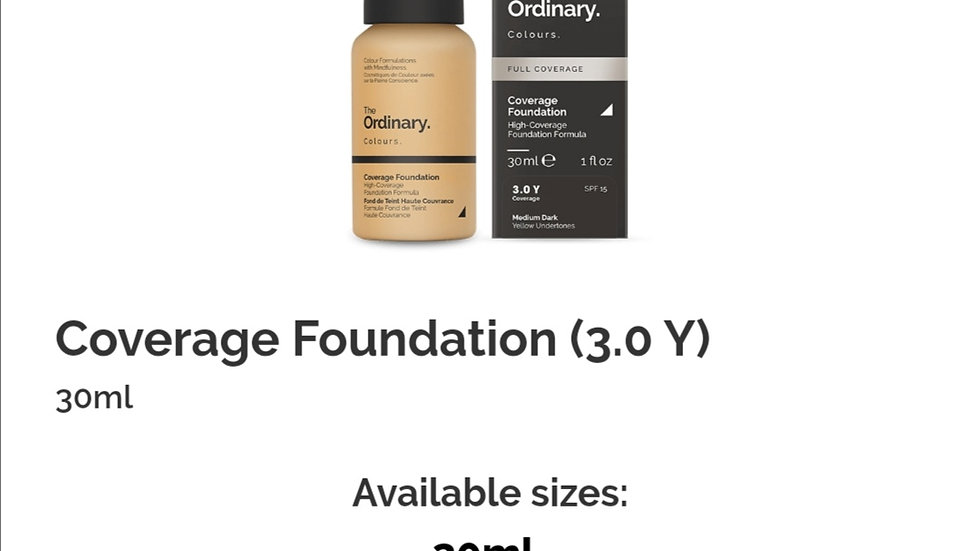 The Ordinary Coverage Foundation 3.0Y