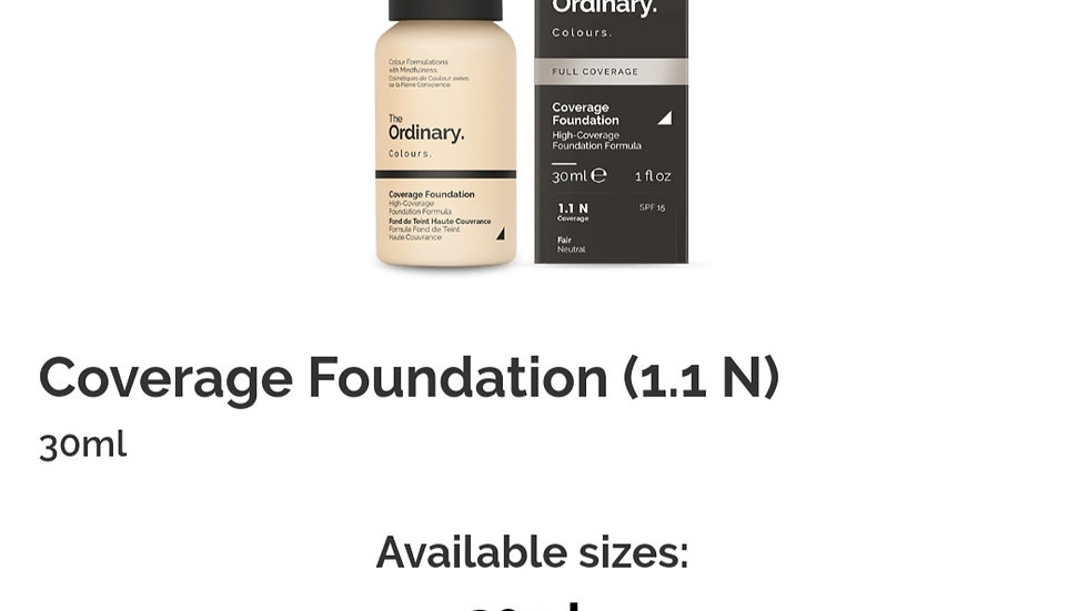 The Ordinary Coverage Foundation 1.1 N