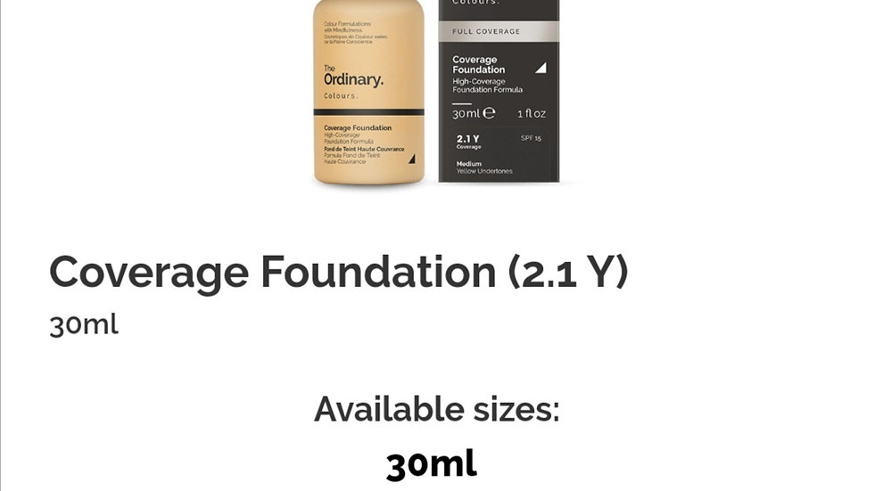 The Ordinary Coverage Foundation 2.1Y
