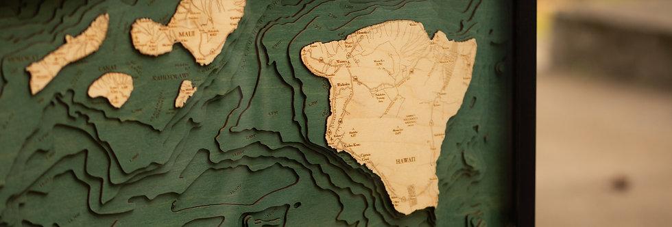 Wood Hawaii TopoMap