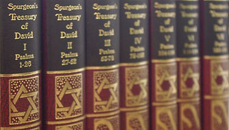 Red books, Spurgeon's Treasury of David volumes 1, 2, 3, 4