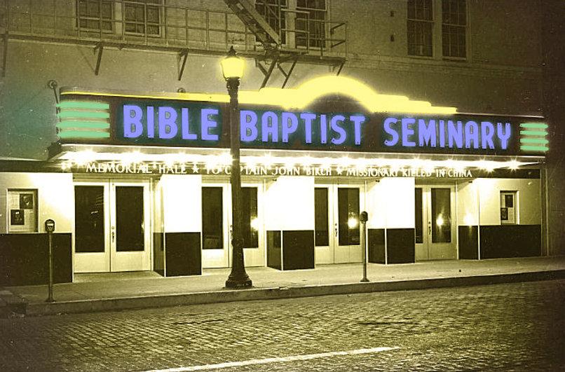 Bible Baptist Seminary at night