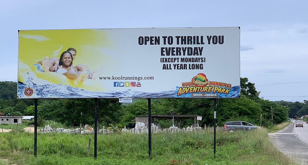 Original Kool Runnings Waterpark Billboard