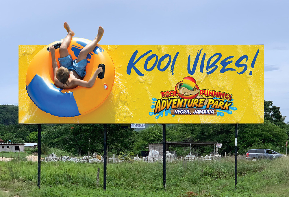 Kool Runnings Waterpark Billboard Design