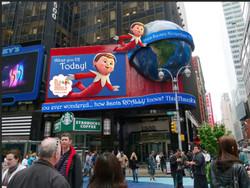 Outdoor Advertising Elf on the Shelf