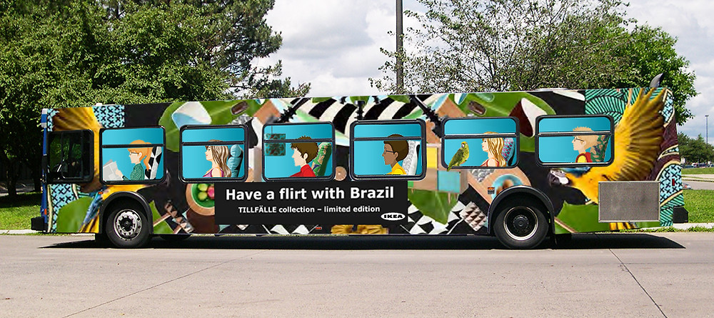 Ikea Bus Wrap Advertising