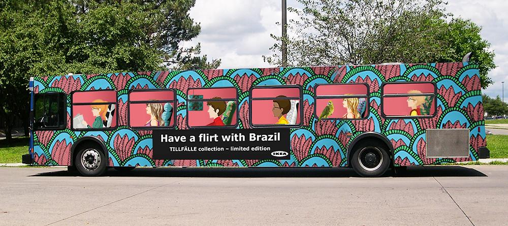 Full Bus Wrap Advertising