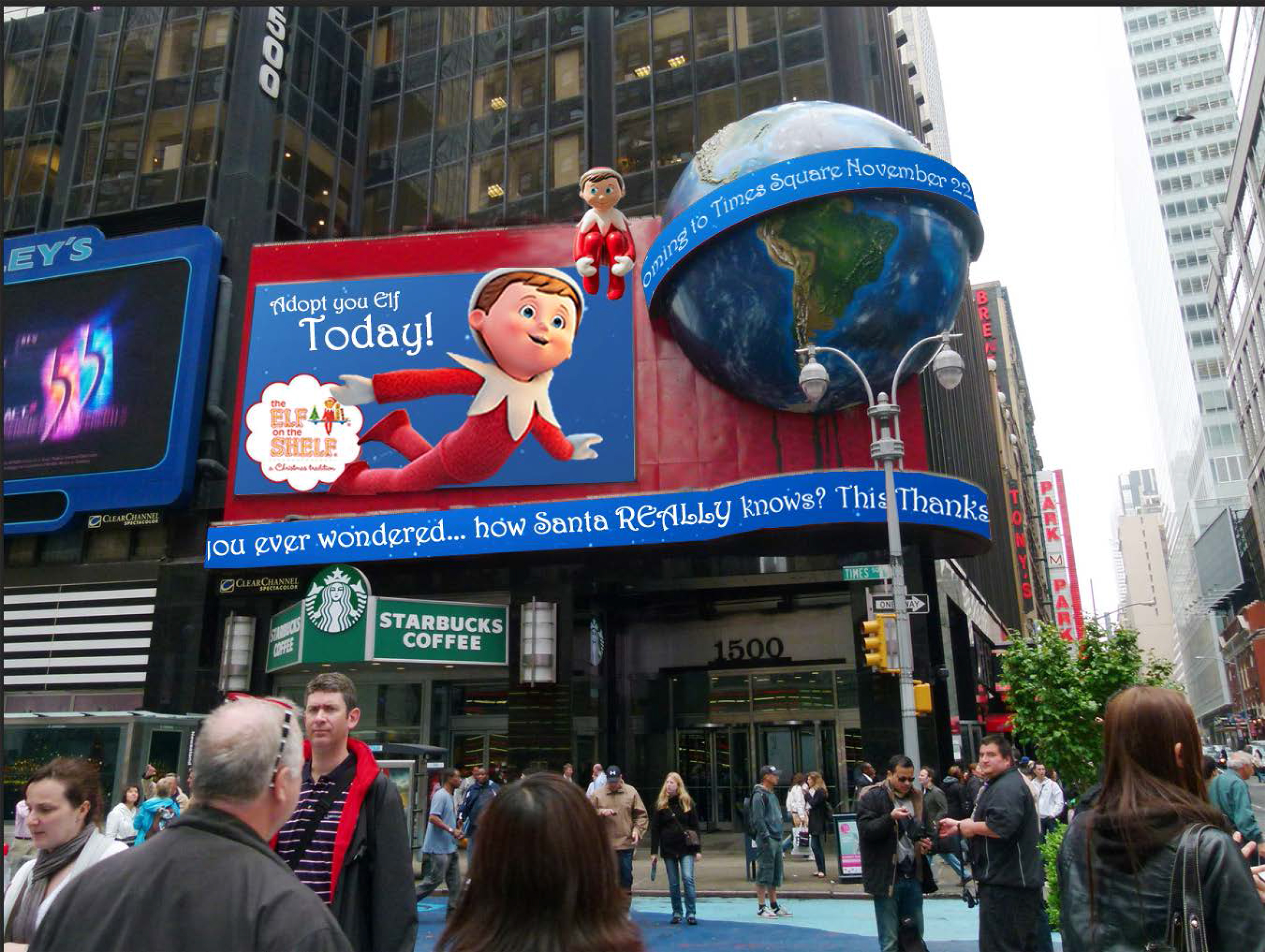 Outdoor Advertising Elf on the Shelf