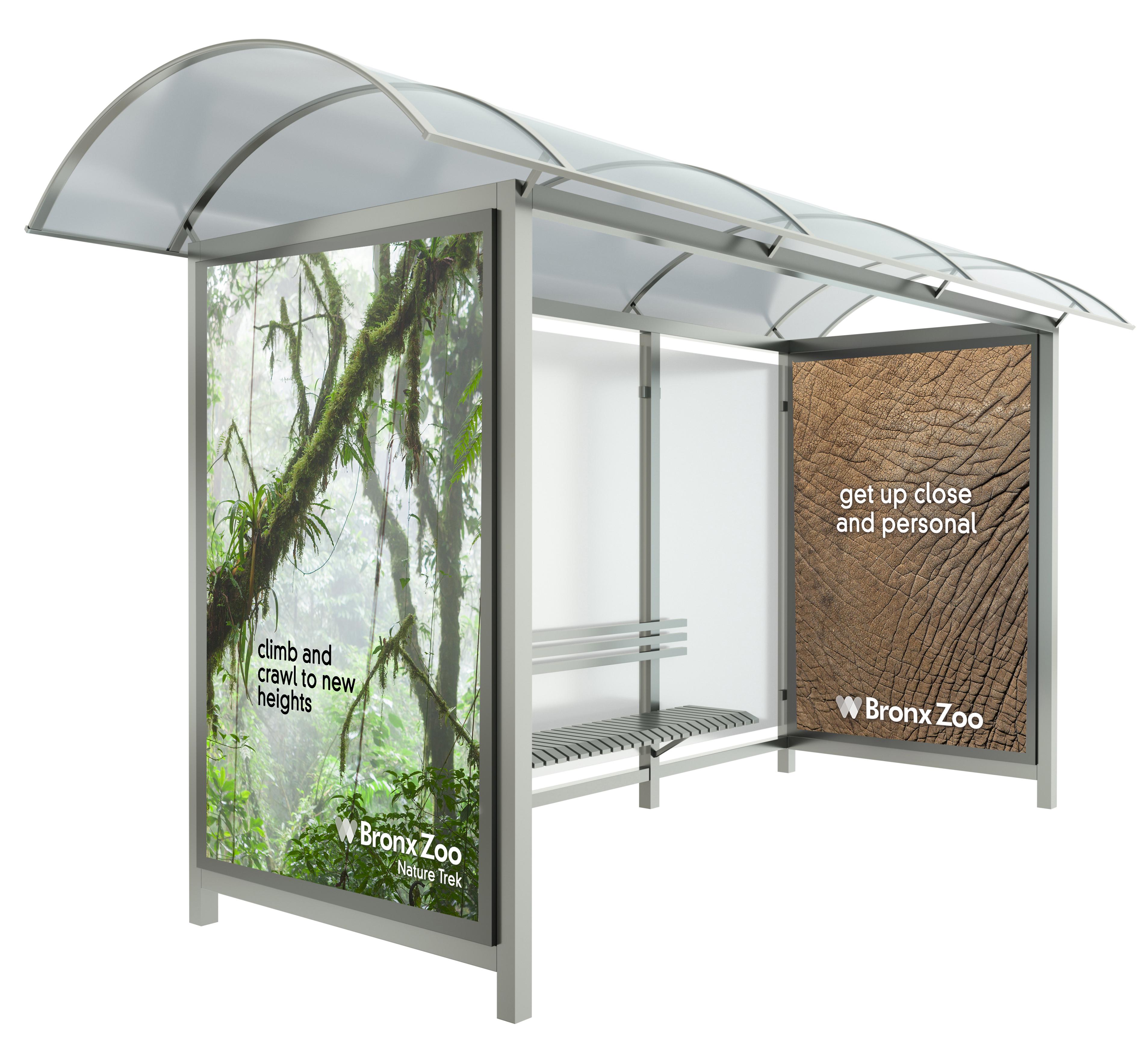 Bronx Zool Transit Shelter Ad