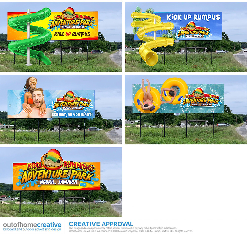 Kool Runnings Waterpark Billboard Design Ideas