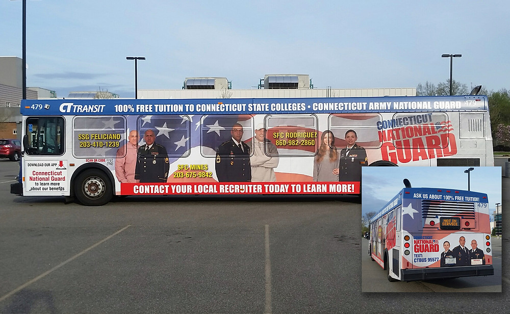 CT Transit Bus Wrap Outdoor Advertisement